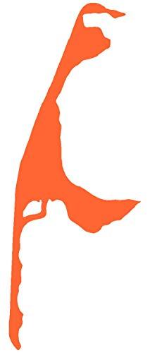 Samunshi® Sylt Aufkleber Insel in 9 Größen und 25 Farben (5,8x15cm orange)