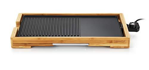 Kitchen Chef - kcwoodpla2000 - Plancha Gril 'lectrique 2000w 51x25,5cm