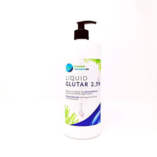 Glutaraldehido 2,5% 1000 ml Abono Antialgas para Acuario Dulce con dosificador