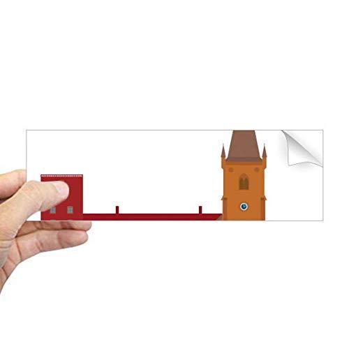 DIYthinker dänische Koling National Landmark Building Rechteck Bumper Aufkleber Notebook Fenster Aufkleber