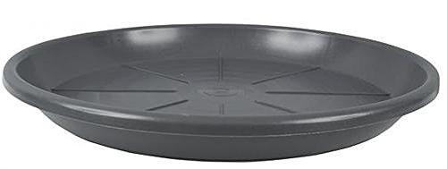 Plusieurs tailles en dessous de pot anthracite/terracotta, Plastique, anthracite, 22