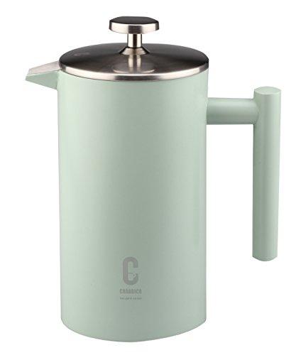 carabica French Press Stempelkanne | Kaffeebereiter | doppelwandig | Edelstahl inkl. Dosierlöffel