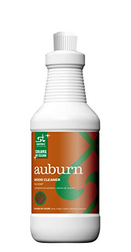 Santec Auburn Wood Cleaner Oil Soap Biodegradeble, Non Toxic For Hardwood, Marble Tiled Floors,Furinture, Kitchen Cabinets,Counter Tops,Painted Walls, All Plastic And Vinyl Sufaces, 32 Ounce