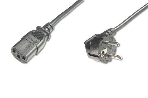 ASSMANN Netzanschluss-, Kaltgerätekabel, EU Version, CEE 7/7 (Typ-F) 90° auf C13, Stecker/Buchse, H05VV-F3G, 1.0 mm², Länge 5.0 m