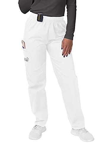 Sivvan Women's Scrubs Drawstring Cargo Trousers - S8200 - White - M
