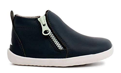 Bobux Step Up Tasman Boot_Primeros Pasos - Un botín de Piel, Forro de Lana Merino, Suela Flexible y Resistente, Cierre Cremallera (Navy, Numeric_22)