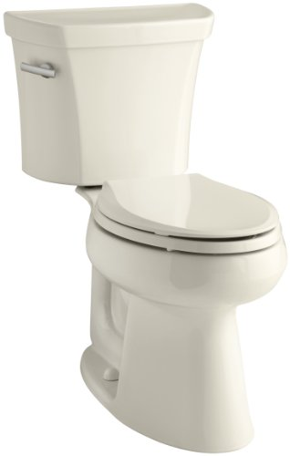 Kohler K-3999-47 Highline Comfort Height 1.28 gpf Toilet, Almond