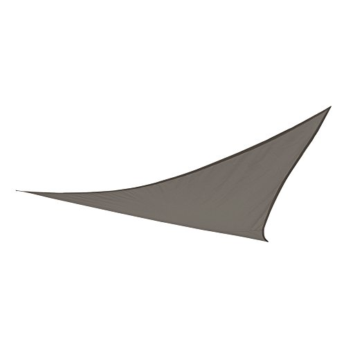 AKTIVE – Bâche Voile Triangulaire pour Jardin, Polyester, 360 x 360 x 360 cm, Couleur Anthracite (COLORBABY 53906)