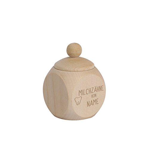 Striefchen® Milchzahndose aus Holz mit Schraubverschluss inklusive Namensgravur
