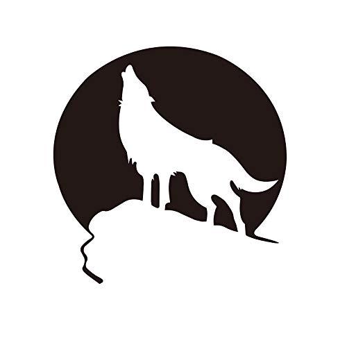 Autoaufkleber Wolf Totem Autoaufkleber Reflektierender Autoaufkleber Wolf Mochizuki Brüllen Auto Carving Aufkleber Reflektierender Wolf Aufkleber 2er Pack