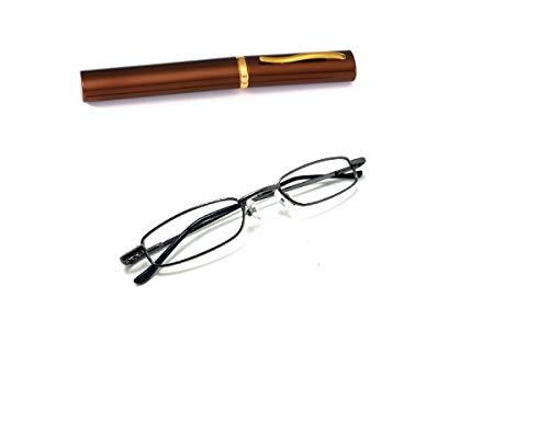 Armação Óculos Caneta Metal Estojo Sem Lentes Cn-12