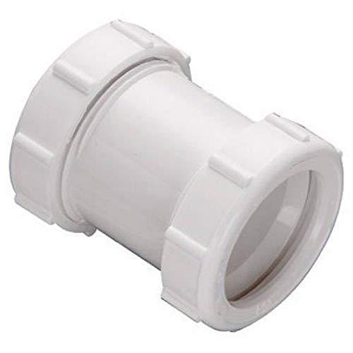 Plumb Pak, White Keeney 46WK 1-1/4-Inch by 1-1/2-Inch Straight Extension Coupling Trap Adapter, 1-1/2-Inch 1-1/2-Inch