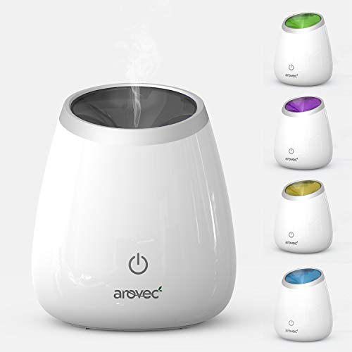 AROVEC™ Ultrasonic Essential Oil Diffuser - Grand Air Deodorizer 120ml Capacity Lasts up to 8 Hours with Auto Safety Shut-off, Portable Premium Aromatherapy Fragrant Oil Vaporizer Humidifier, Mood-Boosting & Optional Changing light, 2-Yr Warranty, AroDeluxe-120