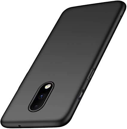 N+A Amosry Kompatibel mit OnePlus 7 Hülle, Slim Fit, Anti-Fall, Reibungswiderstand, Hard Hülle, für OnePlus 7 (Schwarzes)