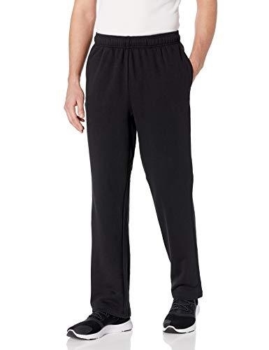 Starter Men's Open-Bottom Sweatpants with Pockets, Amazon Exclusive, Black, Medium