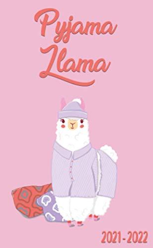 Pyjama Llama 2021-2022: Two Year (24-Months) Monthly Pocket Planner Organizer Calendar - Pink Bed Time Llama Print
