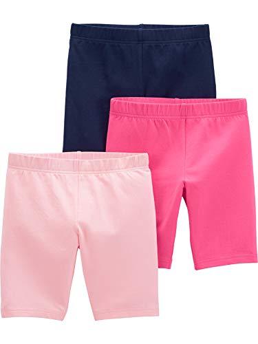 Simple Joys by Carter's Girls' Little Kid 3-Pack Bike Shorts, Navy/Pink, 7