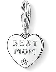 THOMAS SABO Damen Charm-Anhänger Beste Mutter Best Mom Charm Club 925 Sterling Silber 0821-001-12