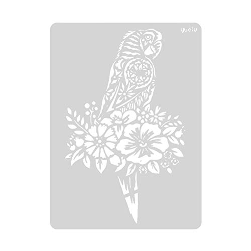 Prosperveil Tier-Design Malerei Zeichnung Schablonen Vorlagen für Kinder Erwachsene DIY Basteln Kunst Papier Karte Basteln Scrapbooking Album Dekoration Papagei