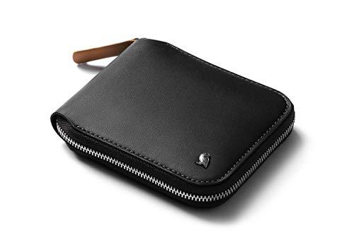 Bellroy Zip Wallet (oltre 8 carte, banconote stese, tasca magnetica per monete con facile accesso) - Black