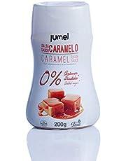 Pack de 4 unidades de Sirope CARAMELO JUMEL 0% bajo en calorías sin grasas. Sin gluten y con STEVIA (3,70€/botella). Envase antigoteo. LOW CALORIES.