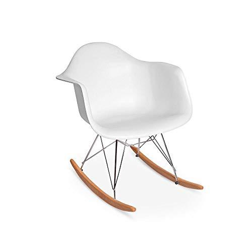Cadeira Charles Eames Rar - Balanço - Design - Branca
