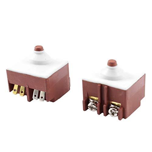 New Lon0167 AC 250V Destacados 8A FA6-5 / eficacia confiable 1D-24 Interruptor de activación momentánea 2 piezas Para bosch 6-100(id:482 21 5b edd)