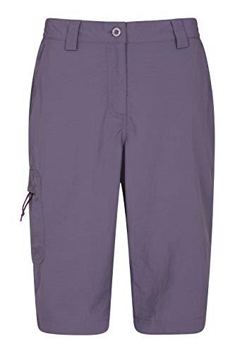 Mountain Warehouse Explorer Bermuda Mujer - Pantalón Corto de Trekking de Secado rápido, Shorts Ligeros, con protección UV - para el Senderismo, Camping, Deportes, Viaje