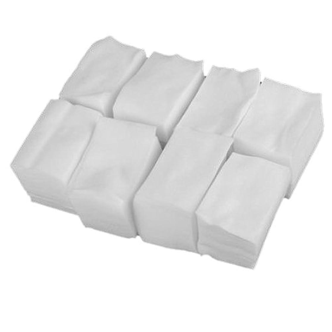 増幅部王族SODIAL 900x白いリントフリーネイルアート ワイプ紙パッド ゲルアクリルのヒント ポリッシュリムーバークリーナー(6cm x 5cm)