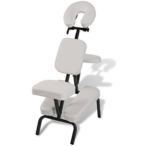 Anself Faltbarer Massagestuhl mit Tasche Weiß