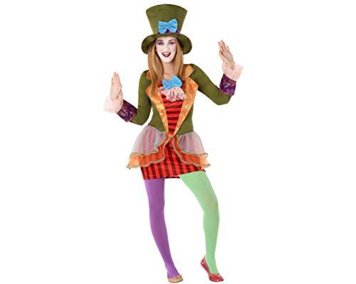 Atosa-61615 Atosa-61615-Disfraz Sombrerera Loca- ADOLESCENTE- Mujer, Multicolor, (61615) , color/modelo surtido