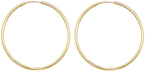 9ct Gold Ladies Hoop Earrings - 30mm WJS3858