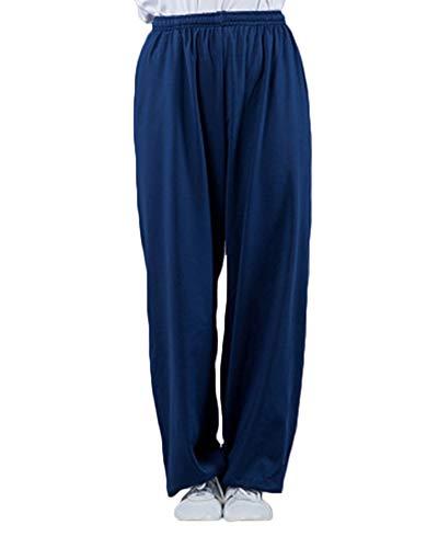 Hombres Y Mujeres Yoga Pantalones De Sudor De Corredores Tai Chi Largos Baggy Elásticos Armada S