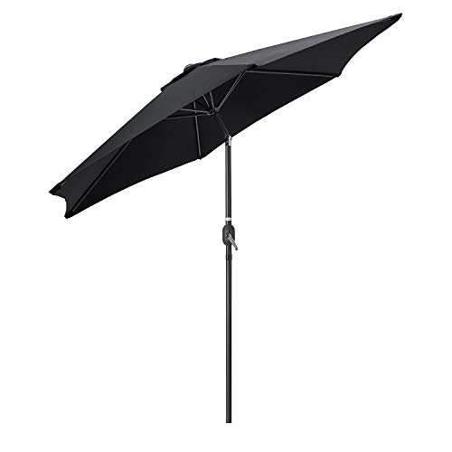 CHRISTOW Tilting Garden Parasol Umbrella 2.7m, Large Outdoor Sun Shade With...