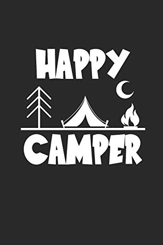 Happy Camper: Camping Outdoor Notebook Camper dotted Notizbuch Planer 6x9 Punkteraster