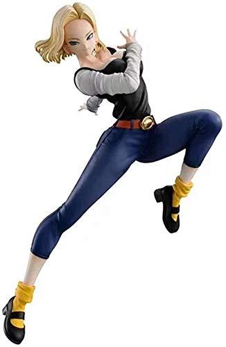KIJIGHG Figura de Anime Dragon Ball Cyborg No. 18 4Th Generation Battle Figuras de accion en Caja Modelo de Personaje de Anime