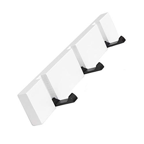 Crochet de manteau en bois monté sur le mur de manteau de robe de chapeau chapeaux le support lourd de bâti de mur de couloir de crochet de cintre porte-serviette (Color : White, Size : 3 hooks)
