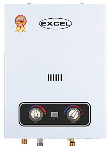 Excel EURO STYLE (PROPANE) LOW PRESSURE STARTUP TANKLESS GAS WATER HEATER 1.6 GPM LPG VENTFREE