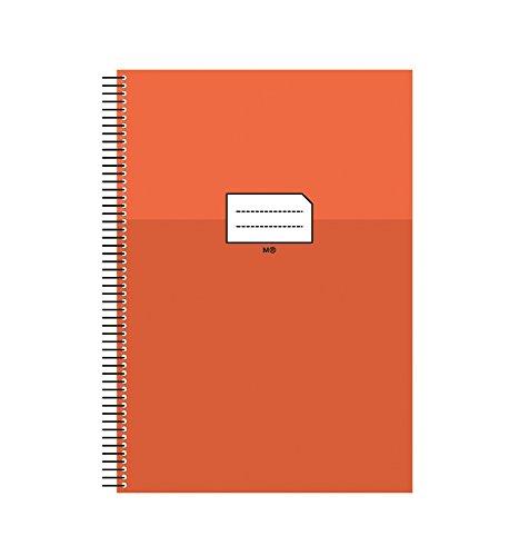 Miquelrius 47034 - Cuaderno escolar folio milimetrado, con margen naranja, 80 hojas