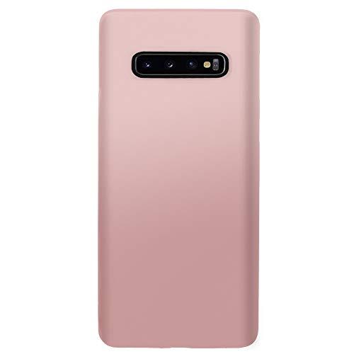 Funda Samsung Galaxy S10/S10 Plus Carcasa Teléfono Móvil Silicona Bumper Case y Ultra Slim Anti-Rasguño Protectora Caso para Samsung Galaxy S10e (Rose Gold, Samsung Galaxy S10 Plus)