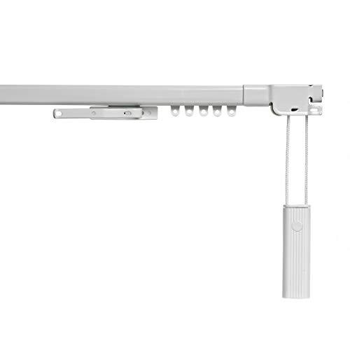 STORESDECO Rieles para Cortinas Extensibles. Riel Extensible metálico, en Color Blanco, con Ancho de hasta 390cm. Accionamiento a cordón. (120 a 210 cm)
