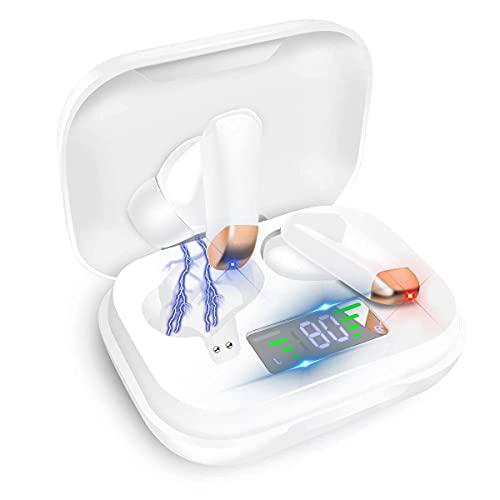 Auriculares Inalámbricos Bluetooth X70, Auriculares Inalámbricos Bluetooth en la Oreja con Micrófono Incorporado, Control Táctil, Adecuados para iPhone, Huawei, Xiaomi y Otros Dispositivos