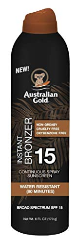 Australian Gold Continuous Spf#15 Spray 6 Ounce With Bronzer (177ml) (2 Pack)