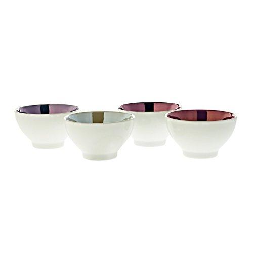 Set 4 ciotole per cereali, ciotola in porcellana, Collezione'Kulinaria', bianco + pastello, porcellana, 200ml (Fan Unikate powered by CRISTALICA)