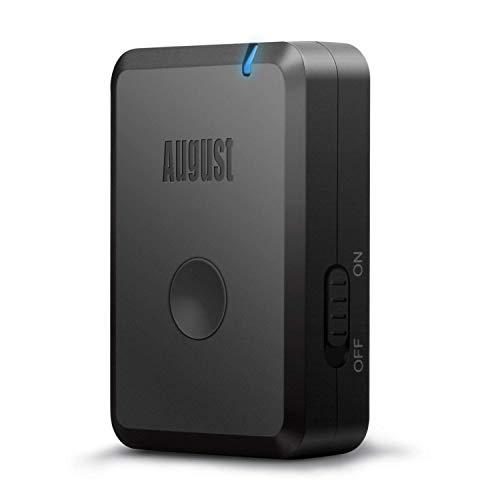 August Récepteur Bluetooth Audio Jack RCA Auxiliaire aptX-LL HiFi MR230 – Adaptateur Audio sans Fil pour Enceinte Chaine HiFi Voiture Streaming