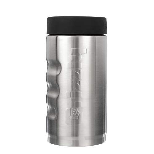 Grizzly Grip Pounder, Stainless Steel Vacuum Insulated Can Cooler, Brushed, 16 oz