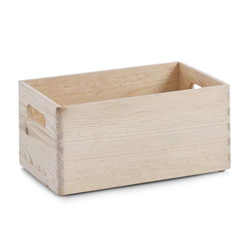Zeller 13140 - Cajón multiusos de madera blanda conífera, 30 x 20 x 15 cm