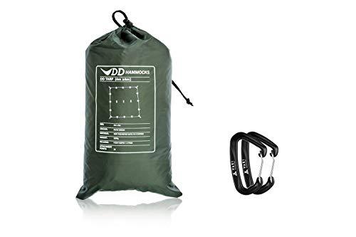 DD Tarp タープ 4x4 [英国メーカー直卸] 高破断強度 カラビナ付 (オリーブグリーン)