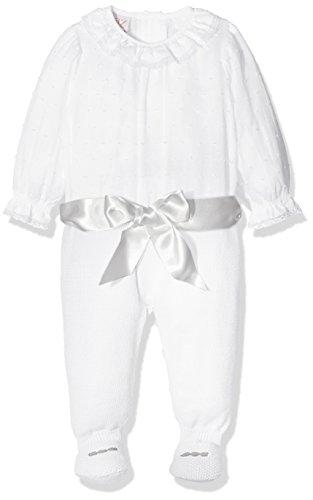 PAZ Rodriguez 005-60107 Pelele, Multicolor (Blanco/Vapor), Recién Nacido (Tamaño del Fabricante:9M) Bebé Unisex