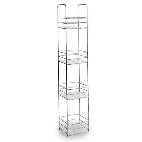 TU TENDENCIA ÚNICA Estantería de Metal Cuadrada con Estantes. Ideal para tener tus accesorios de forma organizada y ahorrar espacio (4 estantes)